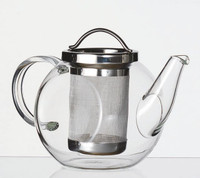 Glass Teapot with strainer 1 litre