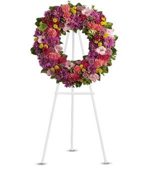 Wreath of Joy funeral arrangement, Sympathy Flowers Alexandria VA