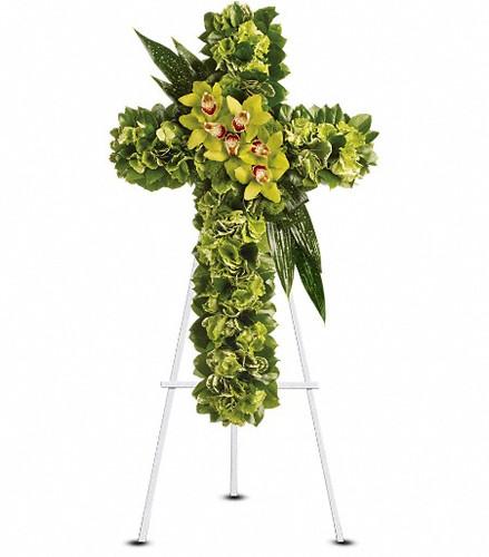 Elegant Cross in Green