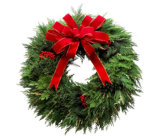 Fresh Cedar Holiday Wreath