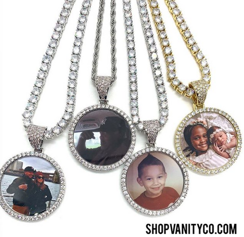 CZ Photo Pendant Necklace