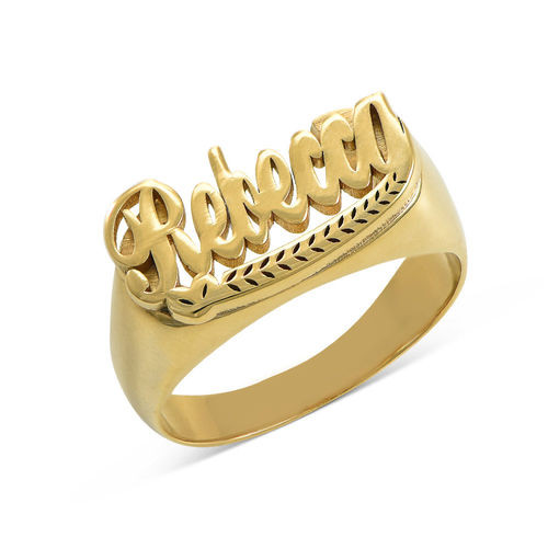Classic Name Ring