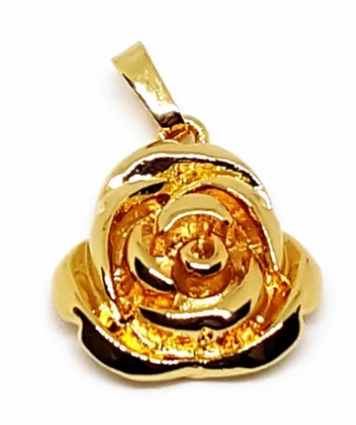 Concrete Rose Pendant