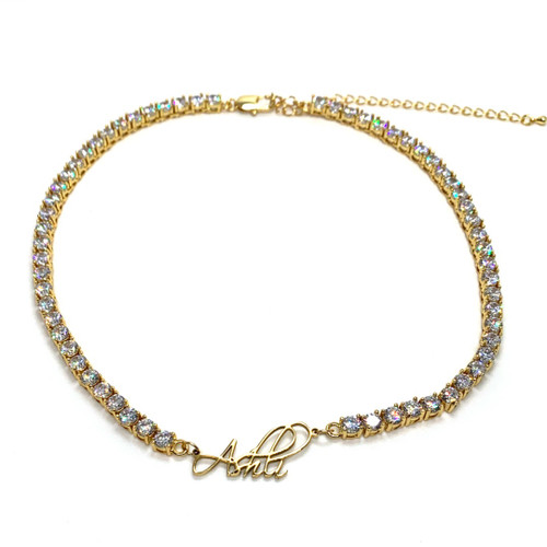 Marilyn Tennis Nameplate Necklace