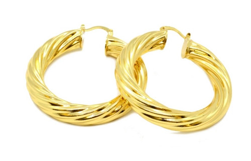 Classic Medium Twist Hoops