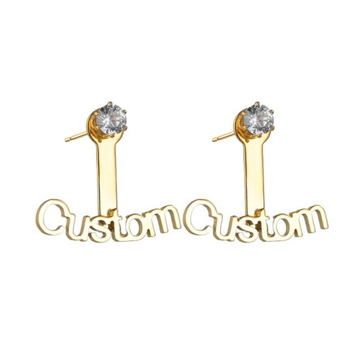 Custom Ear Jacket Stud Earrings