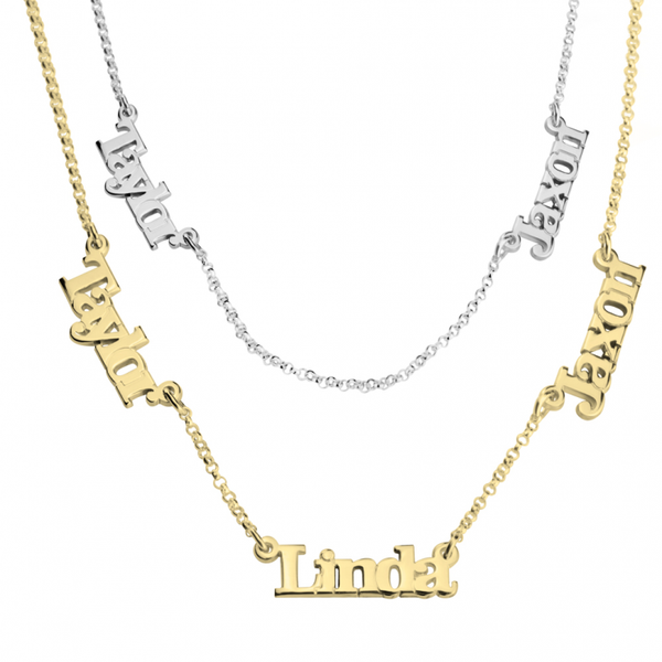 Custom Necklace of Names - Typed