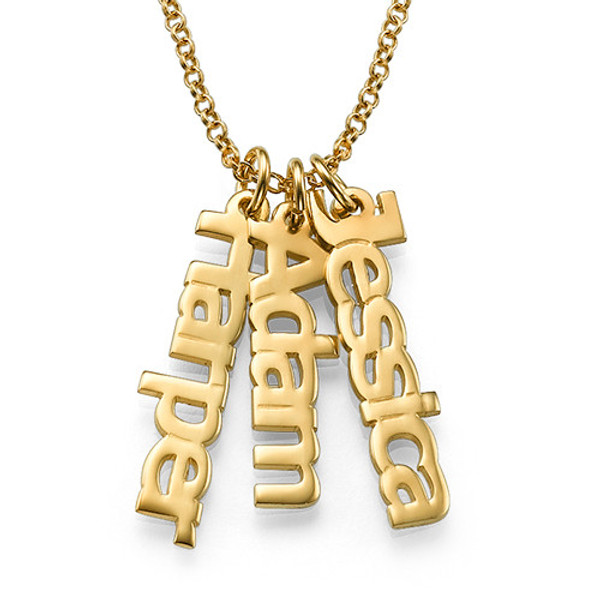 Custom Vertical Name Necklace