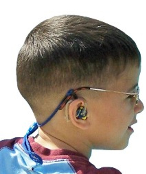 Our SafeNSound You Name It Clipz™ attach to glasses and/or hearing device and then directly to the wearer's clothing. This product has the benefit of customization with the wearer's name, team or phrase. Because of our unique design all of our products can be worn with glasses or hearing devices alone or both simultaneously without modification! Be sure to include name or phrase when ordering.