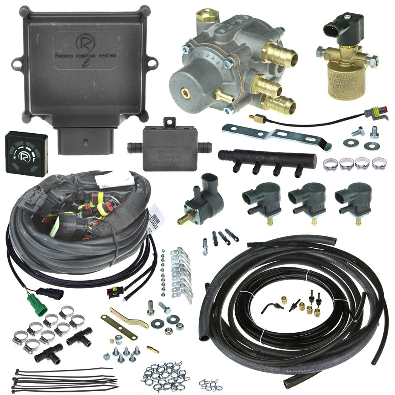 Romano Eco Non Eobd 4 Cylinder Injection System Autogas Lpg Conversion Kit With Reducer Injectors And