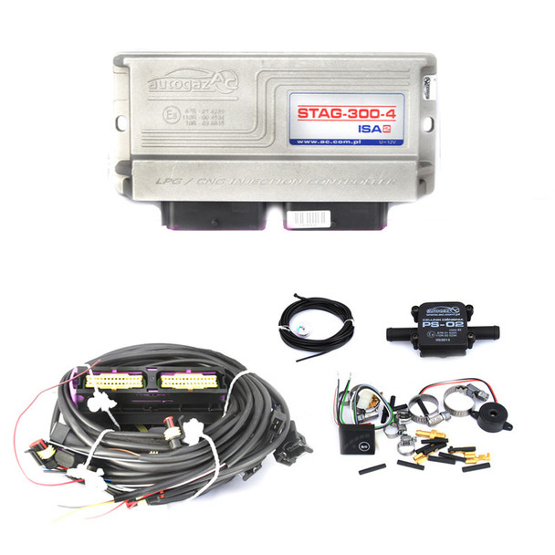 ac stag isa2 4 cylinders lpg autogas conversion kit ecu controller