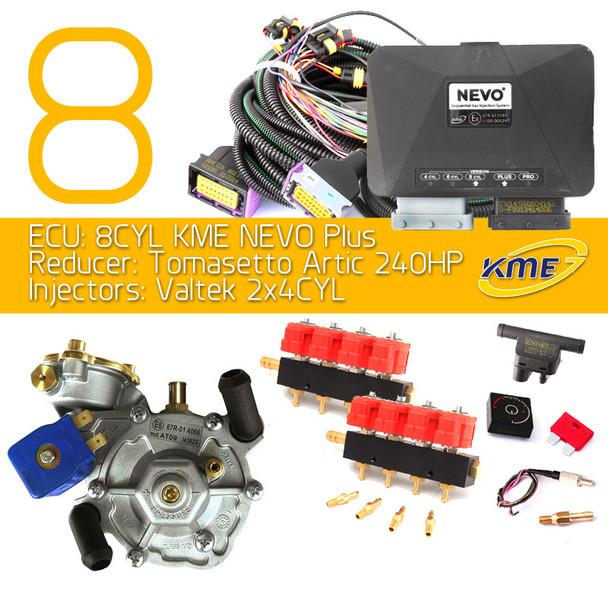 kme nevo plus 8 cylinders lpg conversion kit tomasetto artic valtek injectors autogas cng