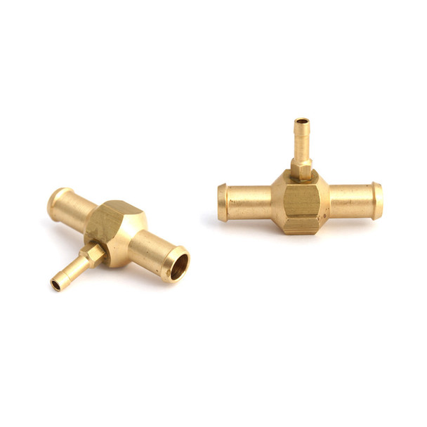 10mm by 4mm T connector Brass