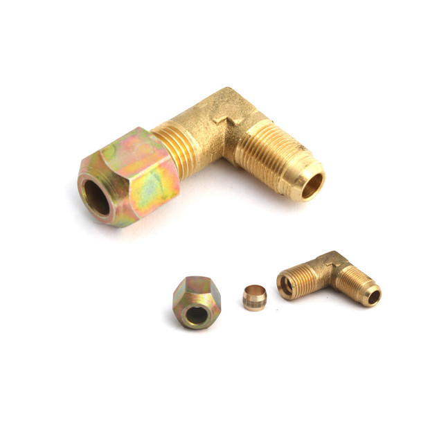 8mm to m12 brass lpg pipe connector with olive compression
