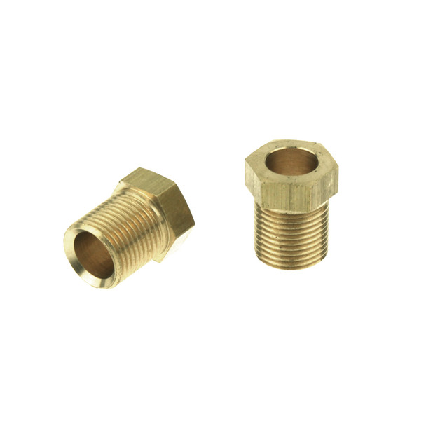 8mm by M12 x 1mm male compression nut lpg pipe brass copper