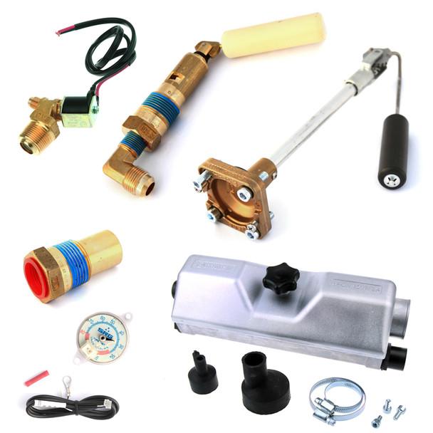 4 hole autogas lpg tank gas valves set cover gauge filling relief