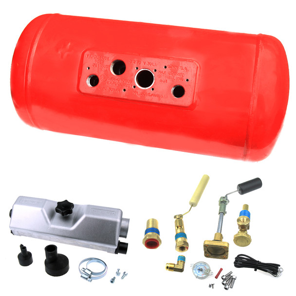120litres Ø360mm L1298mm vapour gas cylinder tank lpg storage for motorhome, caravan, campervan, rv set with valves