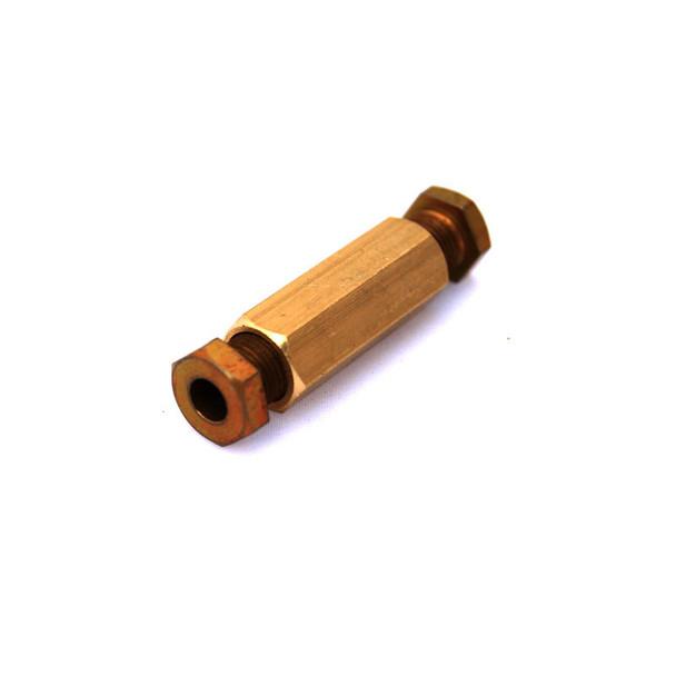 Brass LPG Coupling Straight Ø6/Ø6mm