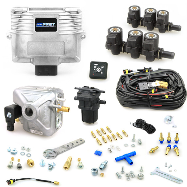 6 Cylinder Lovato Easy Fast C Obdii Full Lpg Front Kit Autogas Conversion