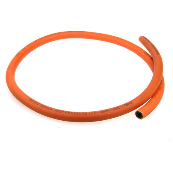 8mm orange LPG propane butane High Pressure Gas Hose 17bar patio gas lpg cylinders regulators