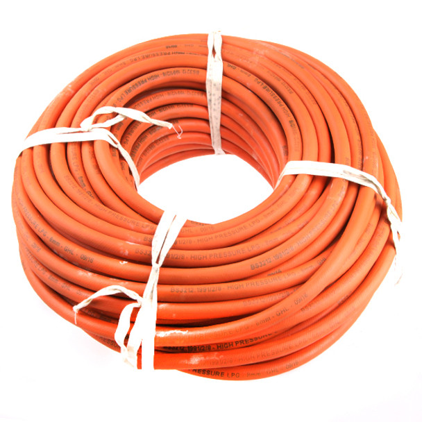 8mm orange LPG propane butane High Pressure Gas Hose 17 bar 50 meters roll