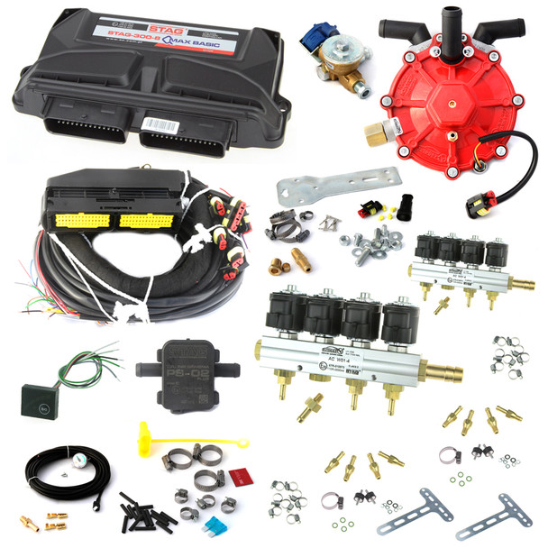 ac stag 8 cylinder autogas conversion kit qmax basic non obd with 250hp reducer 8 injectors