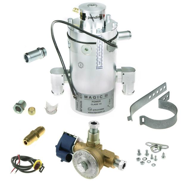 magic iii power class 12 hlpropan reducer vaporiser regulator with 8mm solenoid valve and nipple