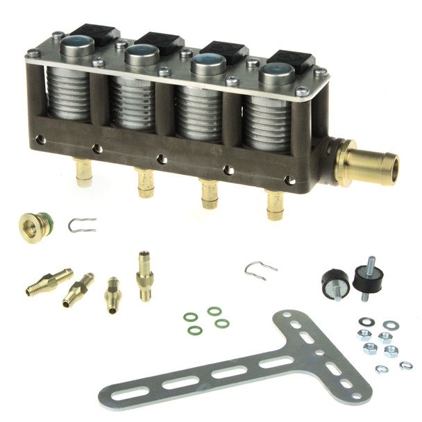 AC STAG 4CYL W02 BFC autogas lpg Injector Rail with accessories