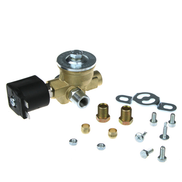 ALEX M12 8mm Solenoid Gas Valve 90deg.