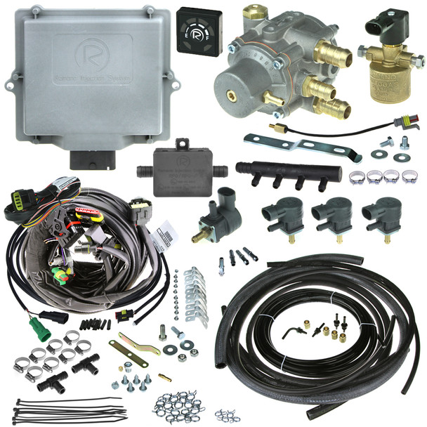 Romano Antonio A2 4 cylinder injection system autogas LPG conversion kit with reducer injectors and all accessories full