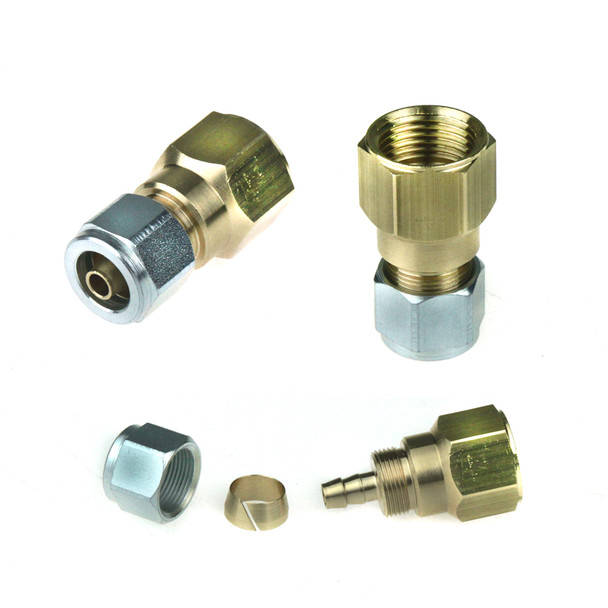 "3/4"" UNF Female 4-Hole to Polypipe 8mm Adapter"