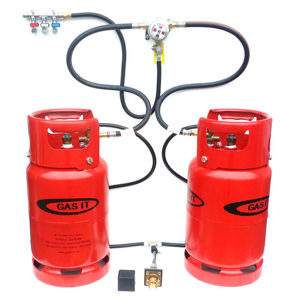 GAS IT Two Small 6kg Refillable LPG Gas Bottles