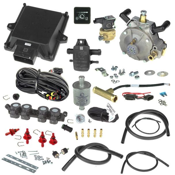 landi renzo evo 4 cylinders Li02 reducer AEB rp4su injector autogas lpg minikit conversion