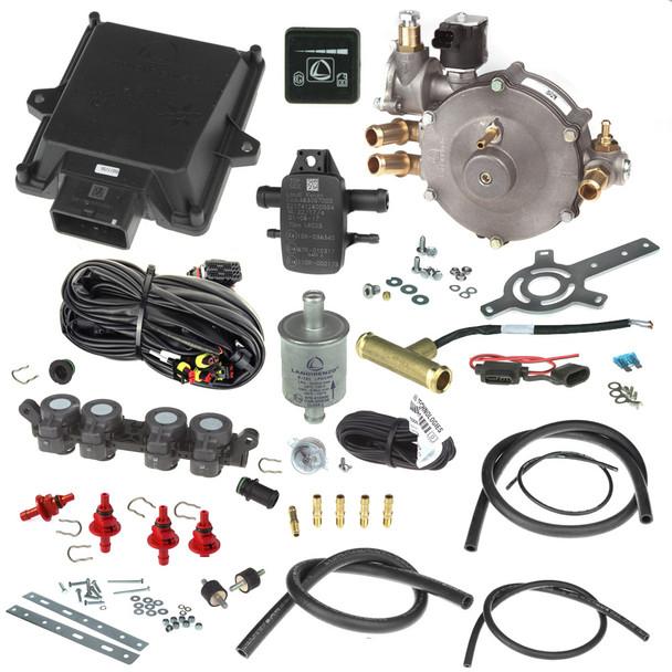 landi renzo evo 4 cylinders Li10 reducer AEB rp4su injector autogas lpg minikit conversion