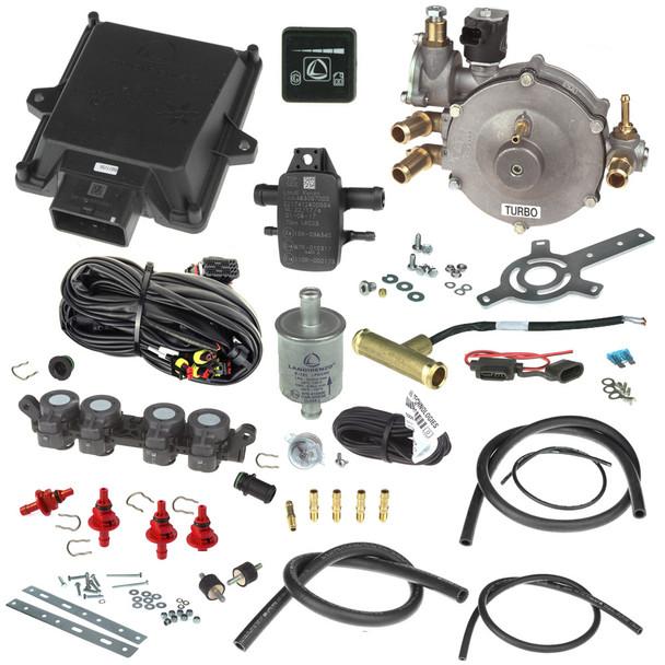 landi renzo evo 4 cylinders Li10 Turbo reducer AEB rp4su injector autogas lpg minikit conversion