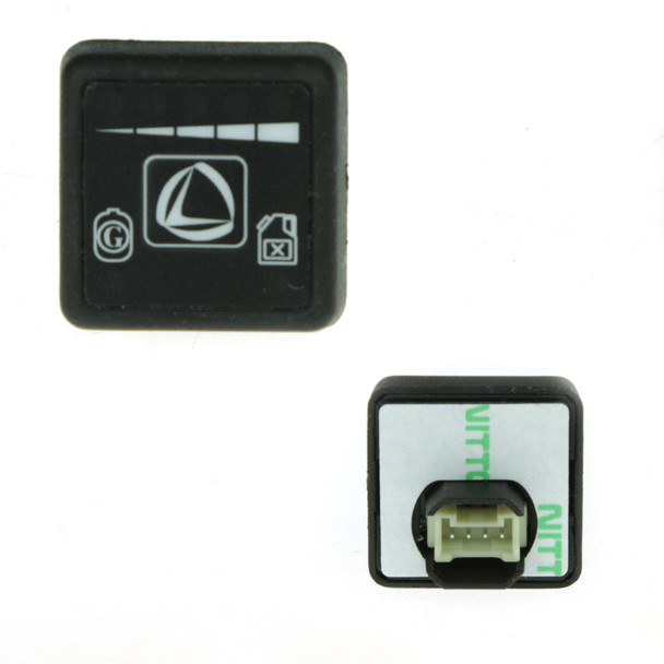 Genuine gas / petrol switch for Landi Renzo conversions with integrated gas level LEDs