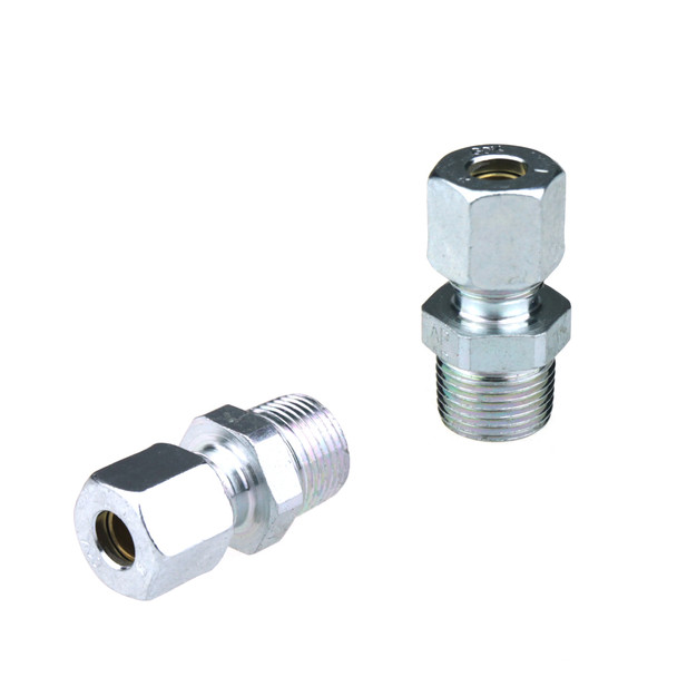 """3/8"""" NPT Male to Copper 8mm Adapter"""