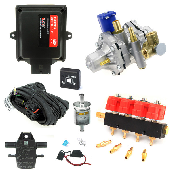aeb 48 4 cylinders tomasetto at-12 cng 250 hp valtek type-30 natural gas conversion kit
