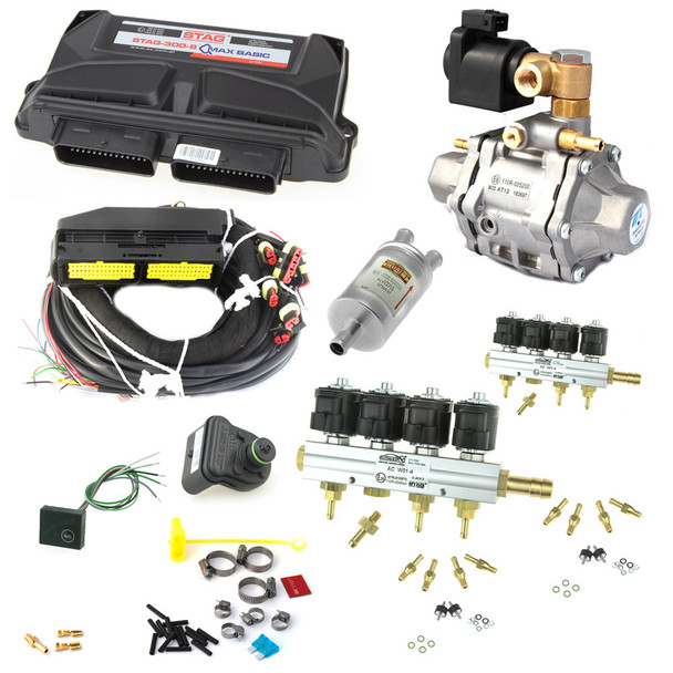ac stag qmax basic 8 cylinders tomasetto at-12 cng super 400 hp stag w-02 natural gas conversion kit