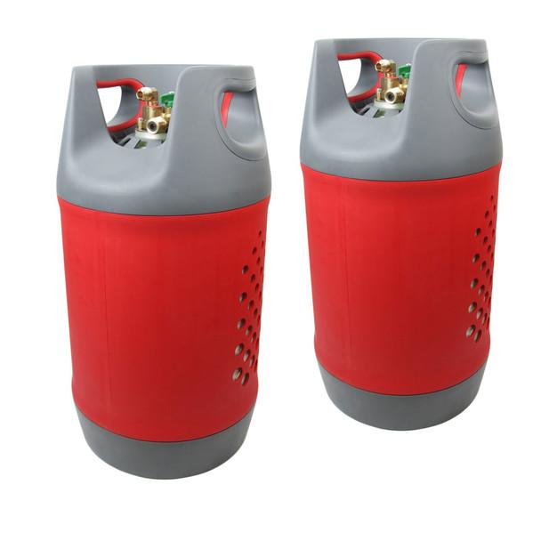 Light Composite Caravan Bottle with Multivalve Set of 2
