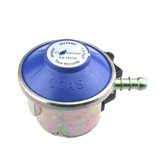 Butane Clip On 20mm 30mbar Gas Pressure Regulator G52