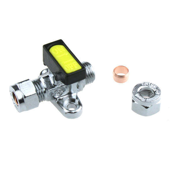 Inline Gas Valve 8mm Compression Low Pressure