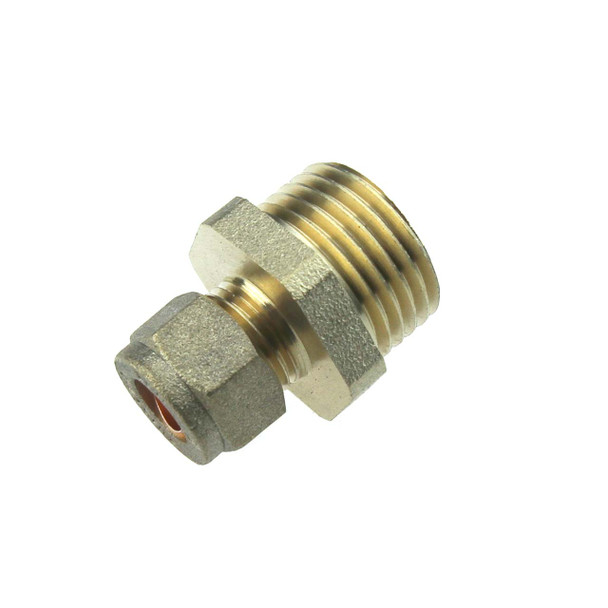 """1/2"""" BSPP Male to 8mm Copper Pipe Compression Fitting"""