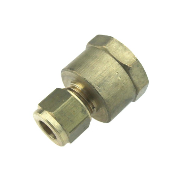 """1/2"""" BSPP Female to 8mm Copper Pipe Compression Fitting"""