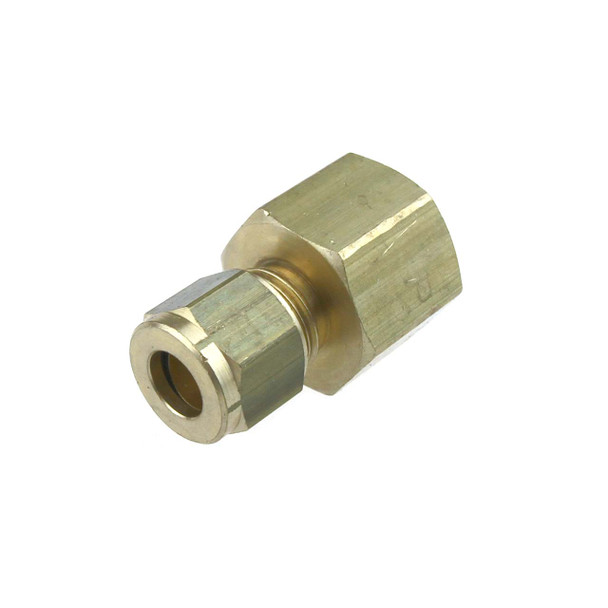"""3/8"""" BSPP Female to 8mm Copper Pipe Compression Fitting"""