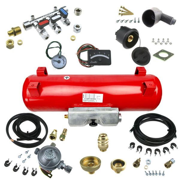 Underslung LPG Gas Tank Kit for Motorhomes with feets build your own kit