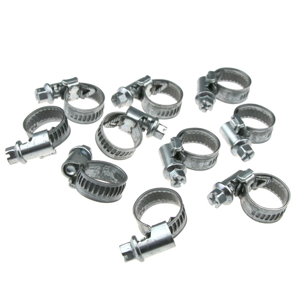 10-16mm Wormdrive NORMA Clamps 10 pieces