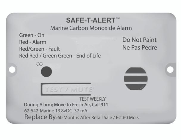 Safe-T-Alert Marine Carbon Monoxide Detector for Motorhomes and Boats - Flush Mount