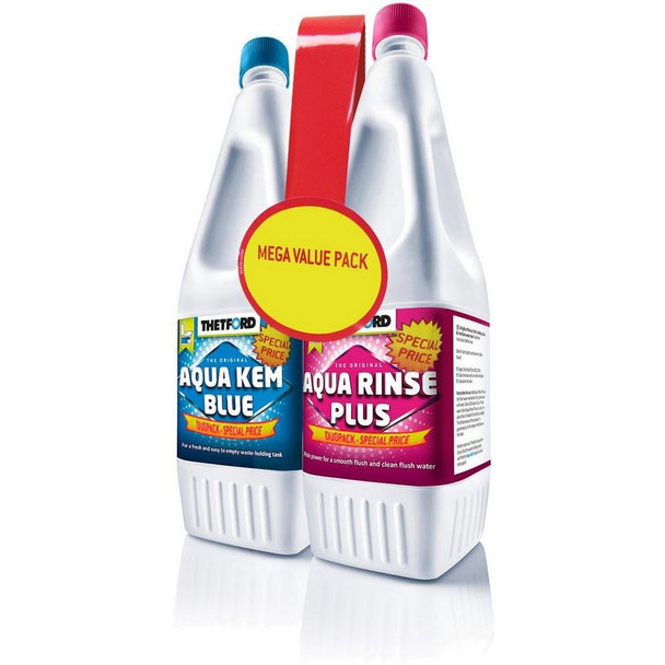 Thetford Aqua Kem Blue / Aqua Rinse Plus Duo Pack