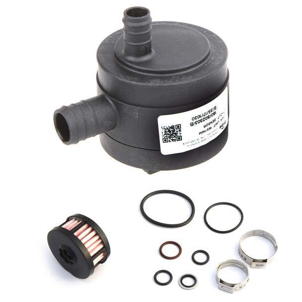 prins autogas lpg filter 12mm in 16mm out with sensor socket and liquid phase filter cartridge